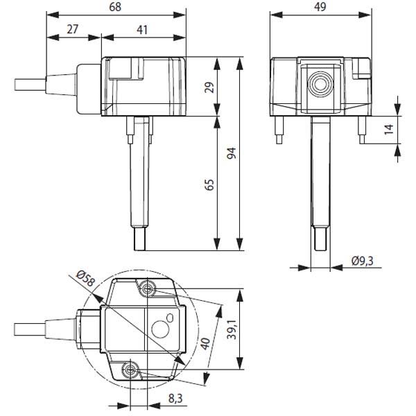 Размеры электропривода BFN230