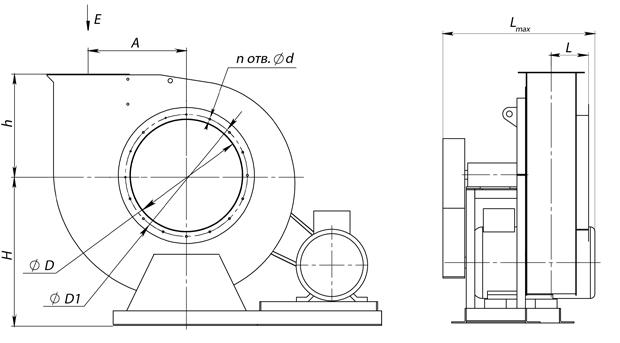 ВР 300-45 №6,3 (11 кВт/725 об/мин)