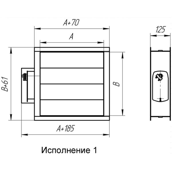 Воздушный клапан АВК 600x300