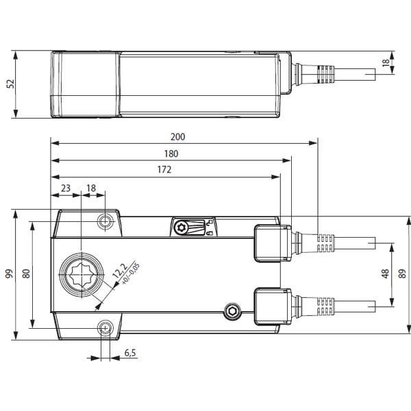 Габариты электроприводы Belimo BFN230