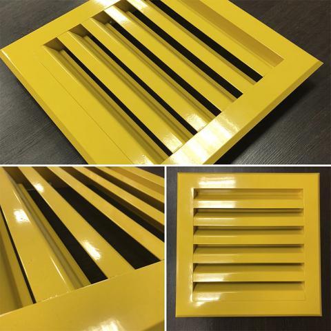 Вентиляционные решетки разных типов и видов